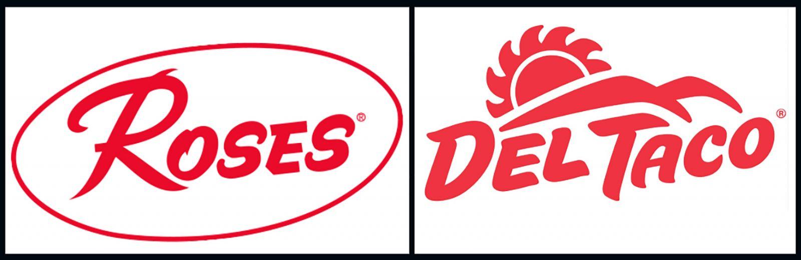 Image of tenant logos Roses and Del Taco