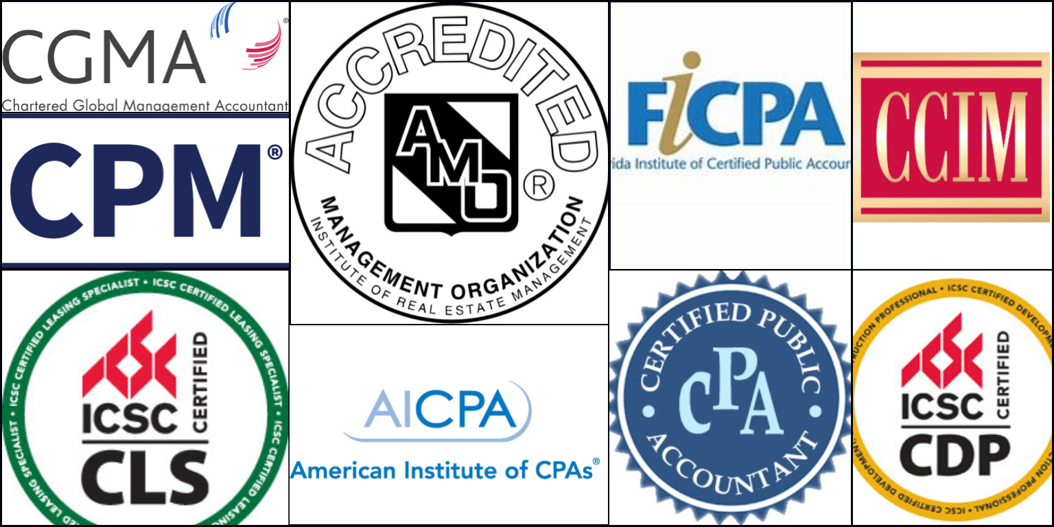 image of all Tobin Properties' certifications, accreditation and association the group is a memeber of.