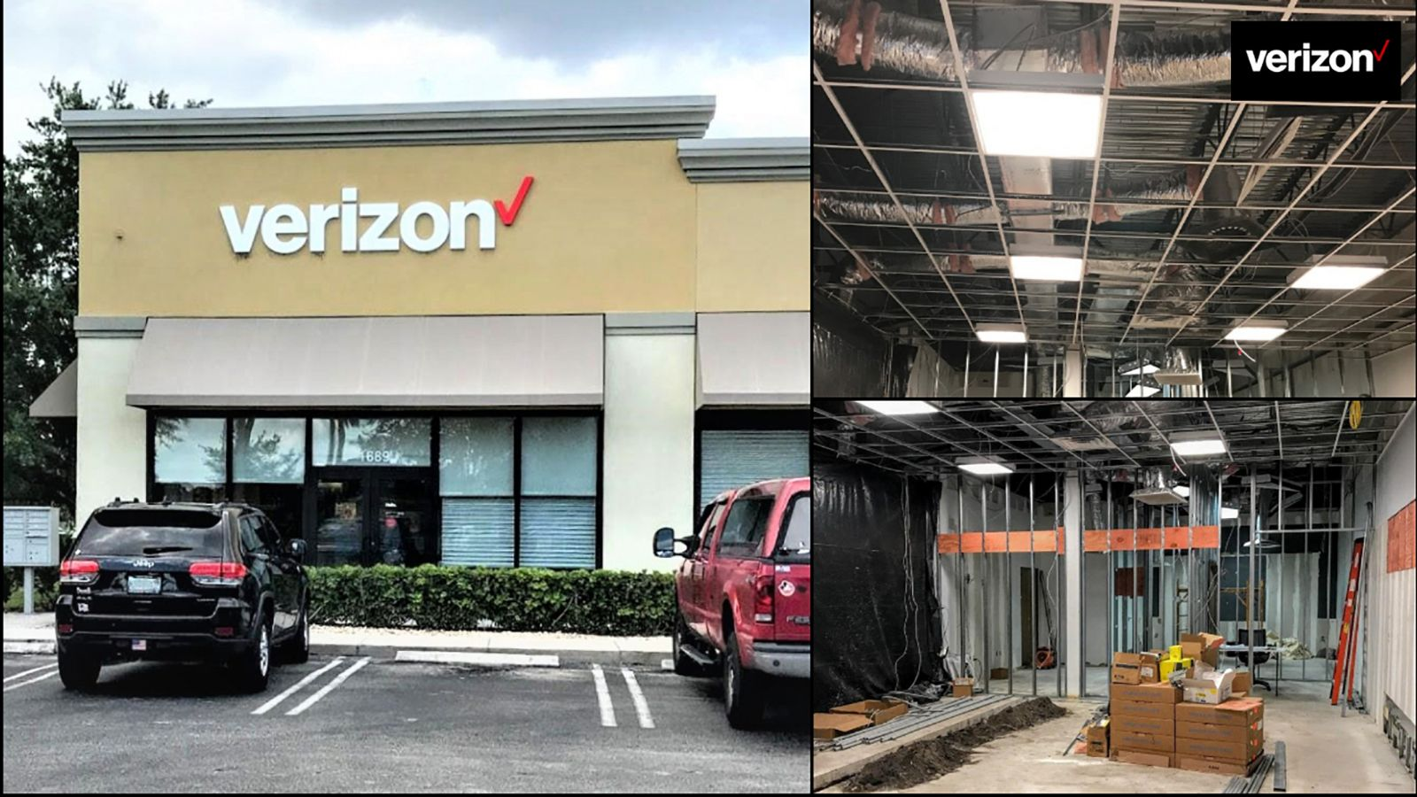images of Verizon WirelessInterior Retrofit. Phased Project Open During Construction: Underground Electrical, Concrete Cutting, New Millwork Fixtures, Drywall, Flooring, Finishes, and Signage. - Port. Saint Lucie, FL