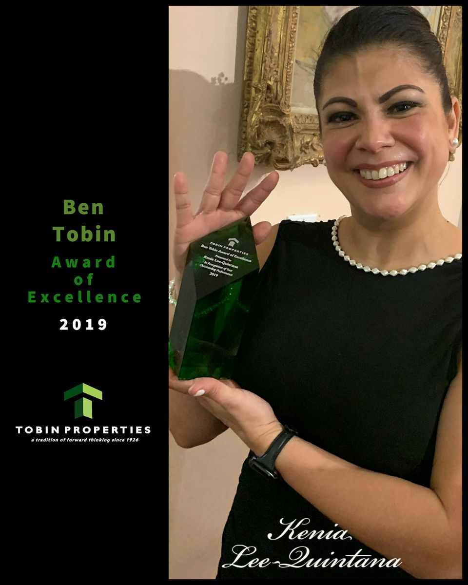 Image of the 1st recipient of the Ben Tobin Award of Excellence 2019