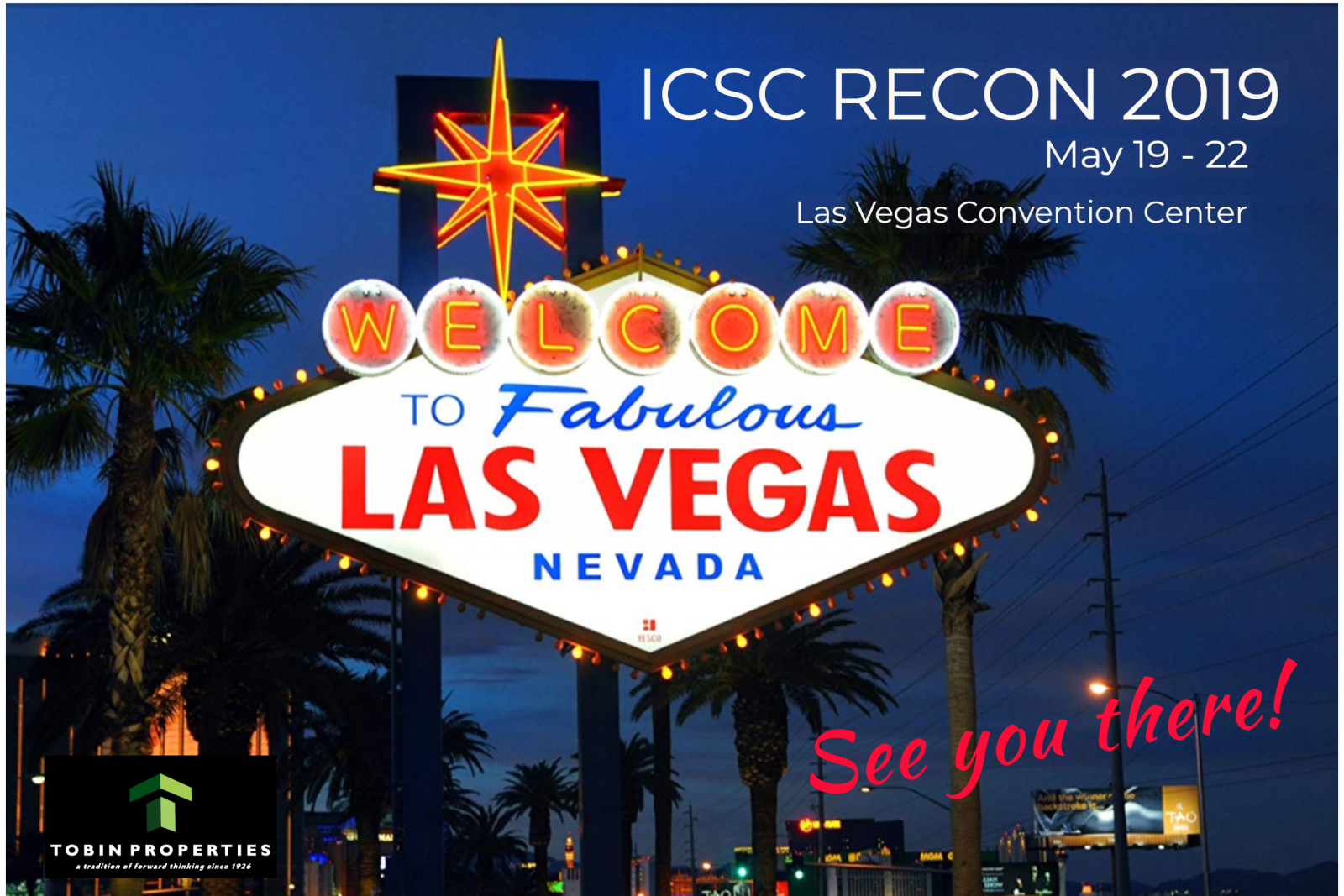image of ICSC Recon Convention in Las Vegas, NV in May 2019