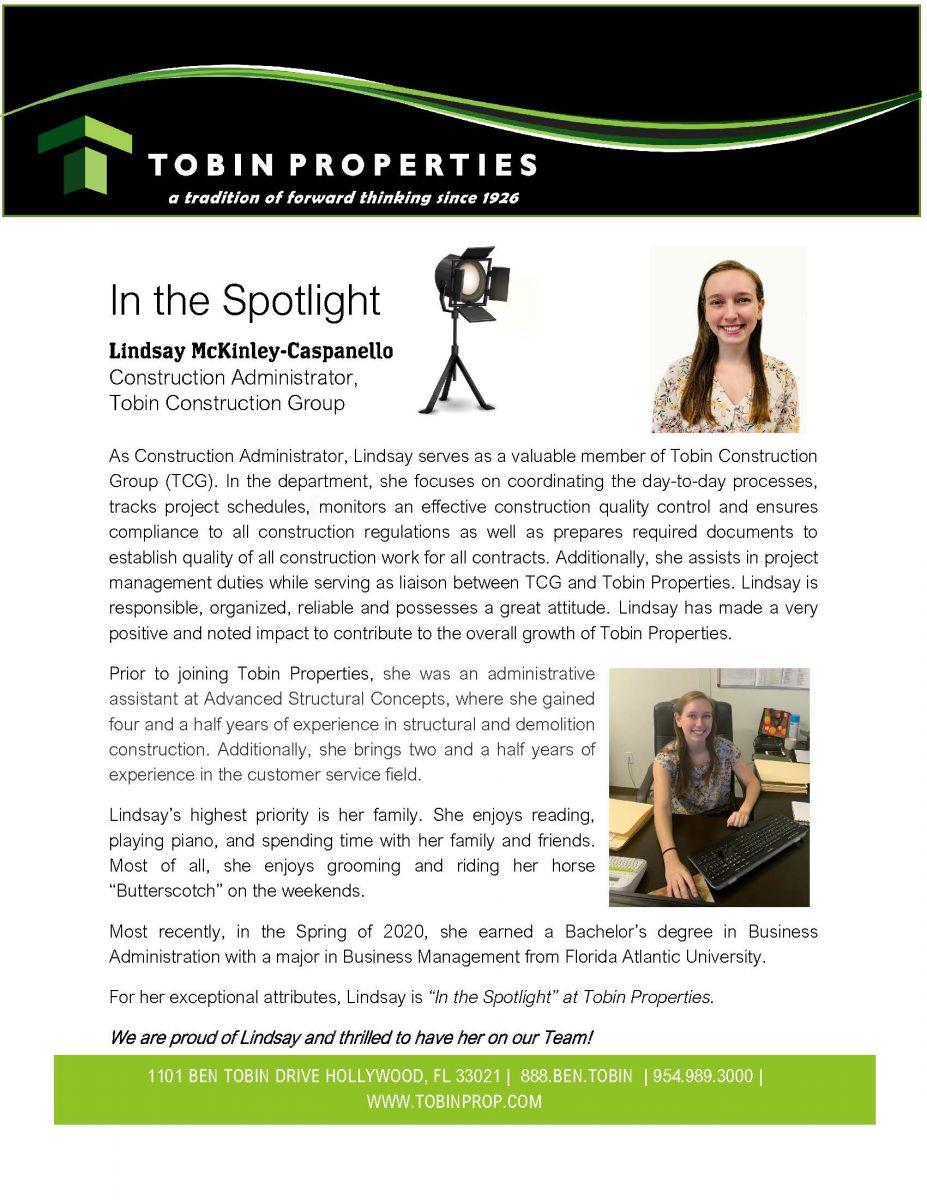 """Image of """"In the Spotlight"""" Award Winner: Lindsay McKinley-Caspanello"""
