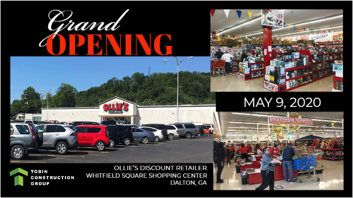 Image of Ollie's store grand opening on May 9, 2020.