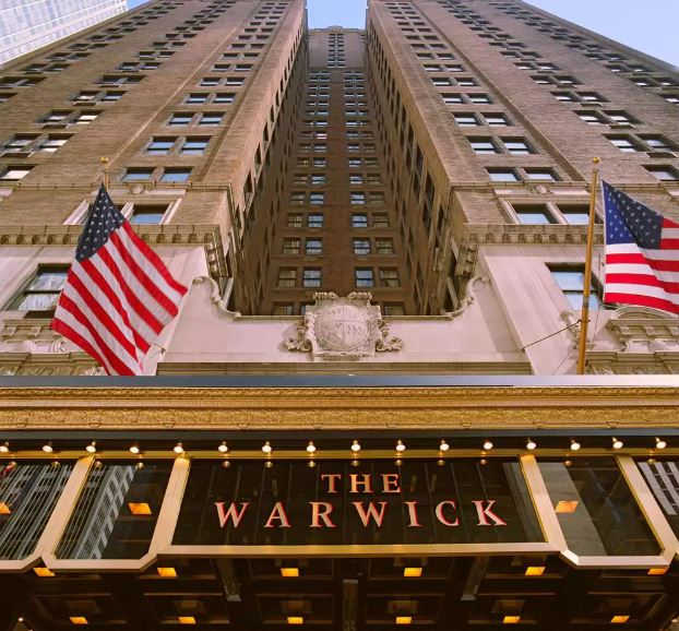 Image of the Warwick Hotel in New York City